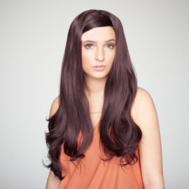 Black Haf Wigs (Hairpieces): Very Berry Half Wig